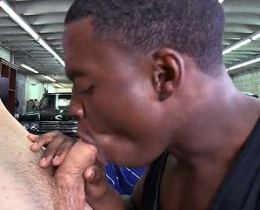 Black gay craves on white meat and fucked on his ass