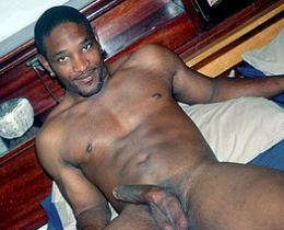 Black gay guys with big cocks posing