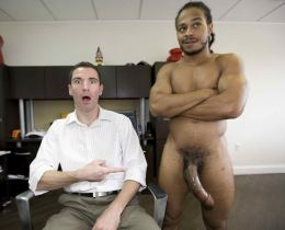 White office boy fucked a big black cock for a change