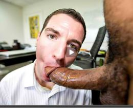 White office guy sucks a big beefy thing
